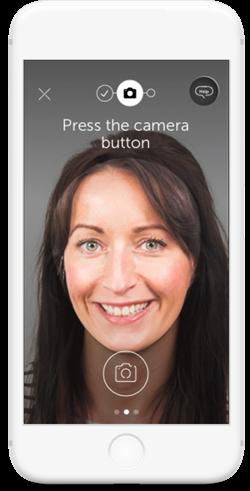 Atom Bank - exemple interface de connexion application mobile