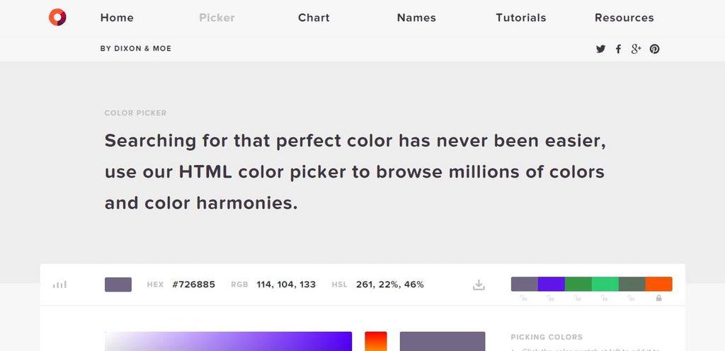 12 . Color Picker par HTML Color Codes
