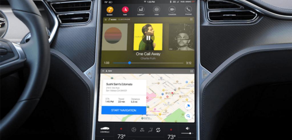 Tesla – Redesign de la console centrale-1