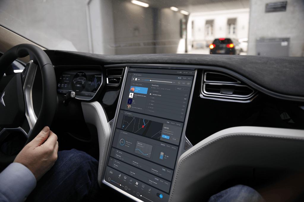 Connected car tesla concept ui design unitid