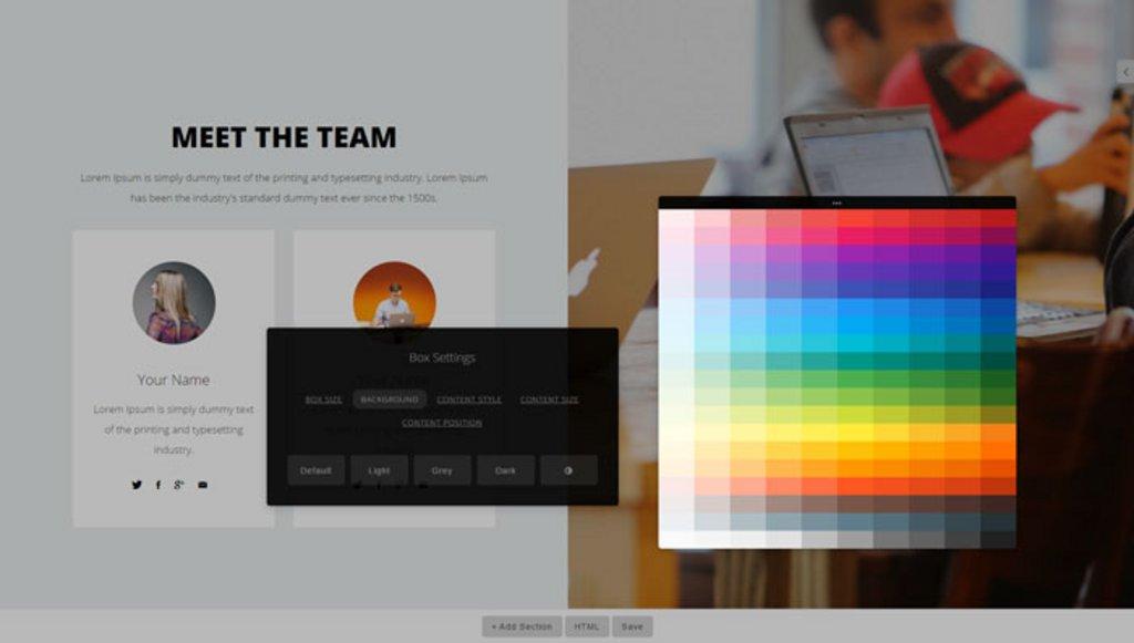 Capture - ContentBox.js – Réaliser des modèles de pages attractifs mais difficiles à coder
