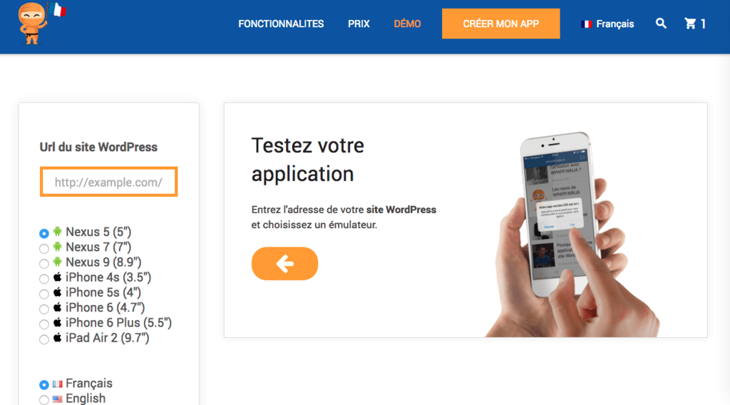 Emulateur application mobile android ios wordpress.png