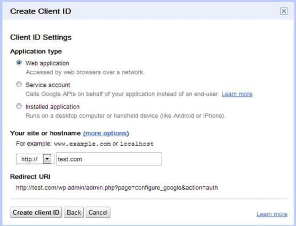 Etape 3 : Créer un ID client