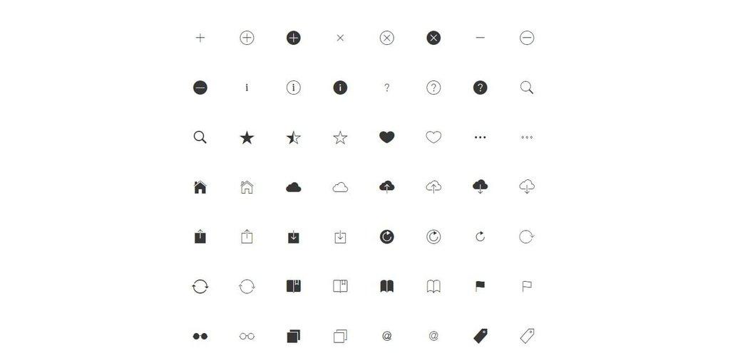 Ionicon – Police d'icônes gratuite-1