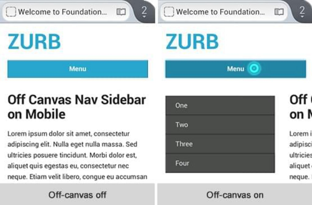 Foundation template responsive off-canvas