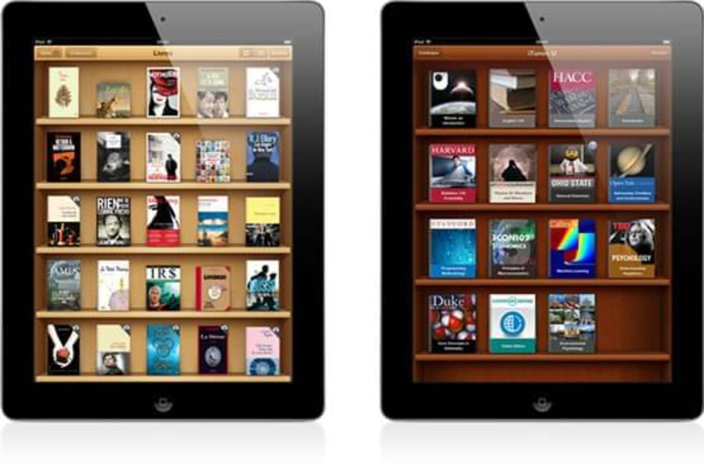 Skeuomorphisme Apps iOS ibooks itunesU