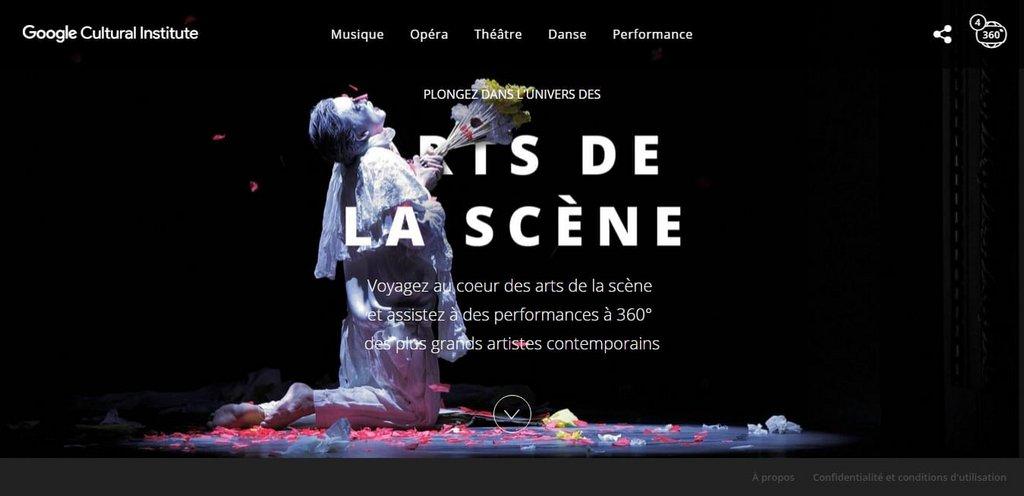 Inspiration ui design site web google cultural institut plongez dans l univers des arts de la scene 1.jpg