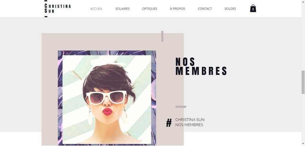 template wix magasin opticien