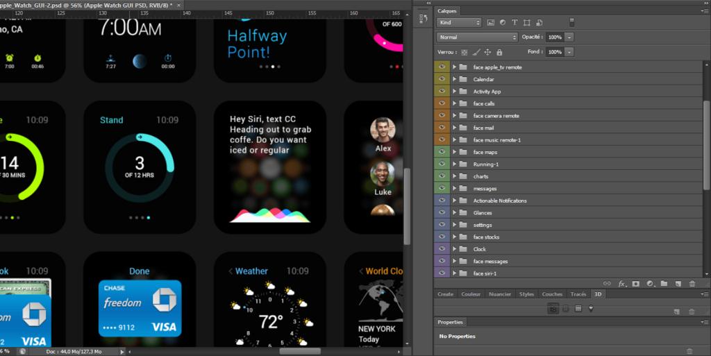 Apple Watch – Kit UI gratuit PSD-3