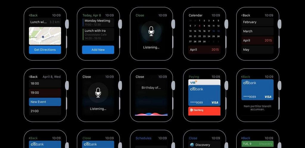 Apple Watch – Kit UI PSD & Sketch-2