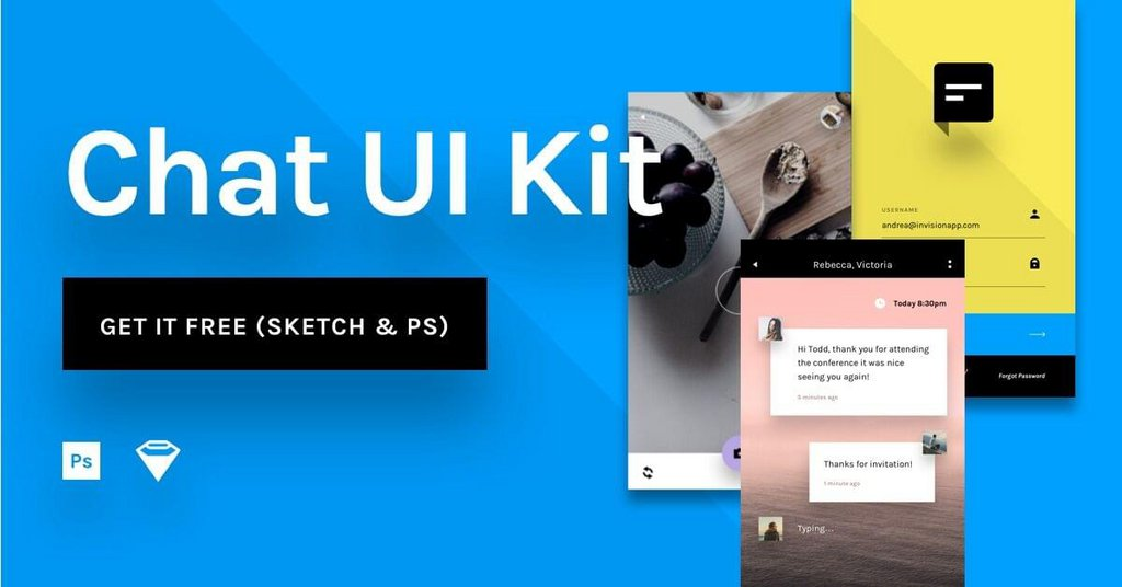 Chat UI – Kit gratuit pour application mobile-1