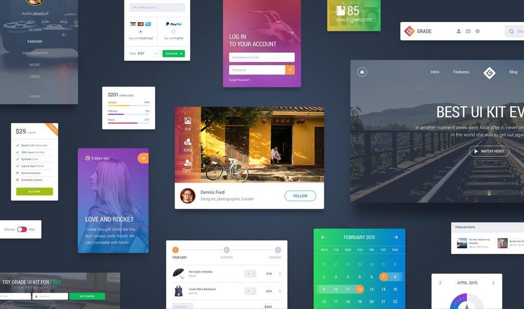 Grade – Kit UI Web App-1
