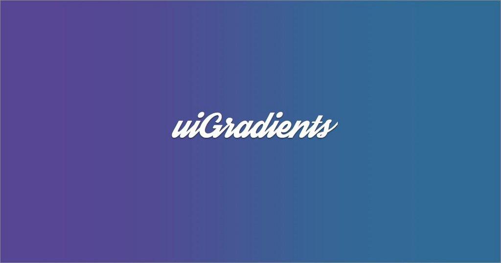 5 . UI gradients