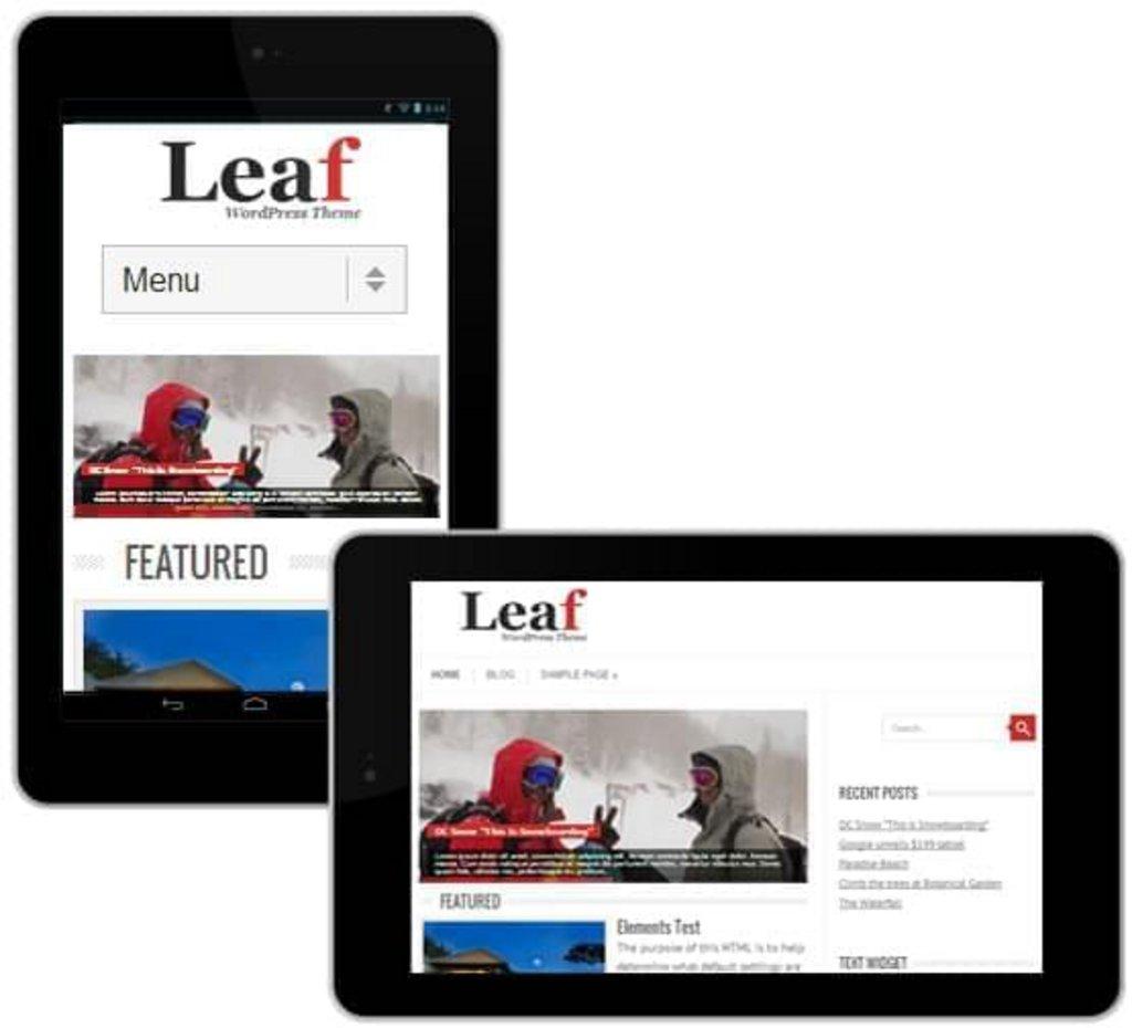 thème wordpress gratuit leaf-mobile