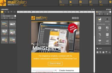 Capture - MailStyler 2 - HTML email builder