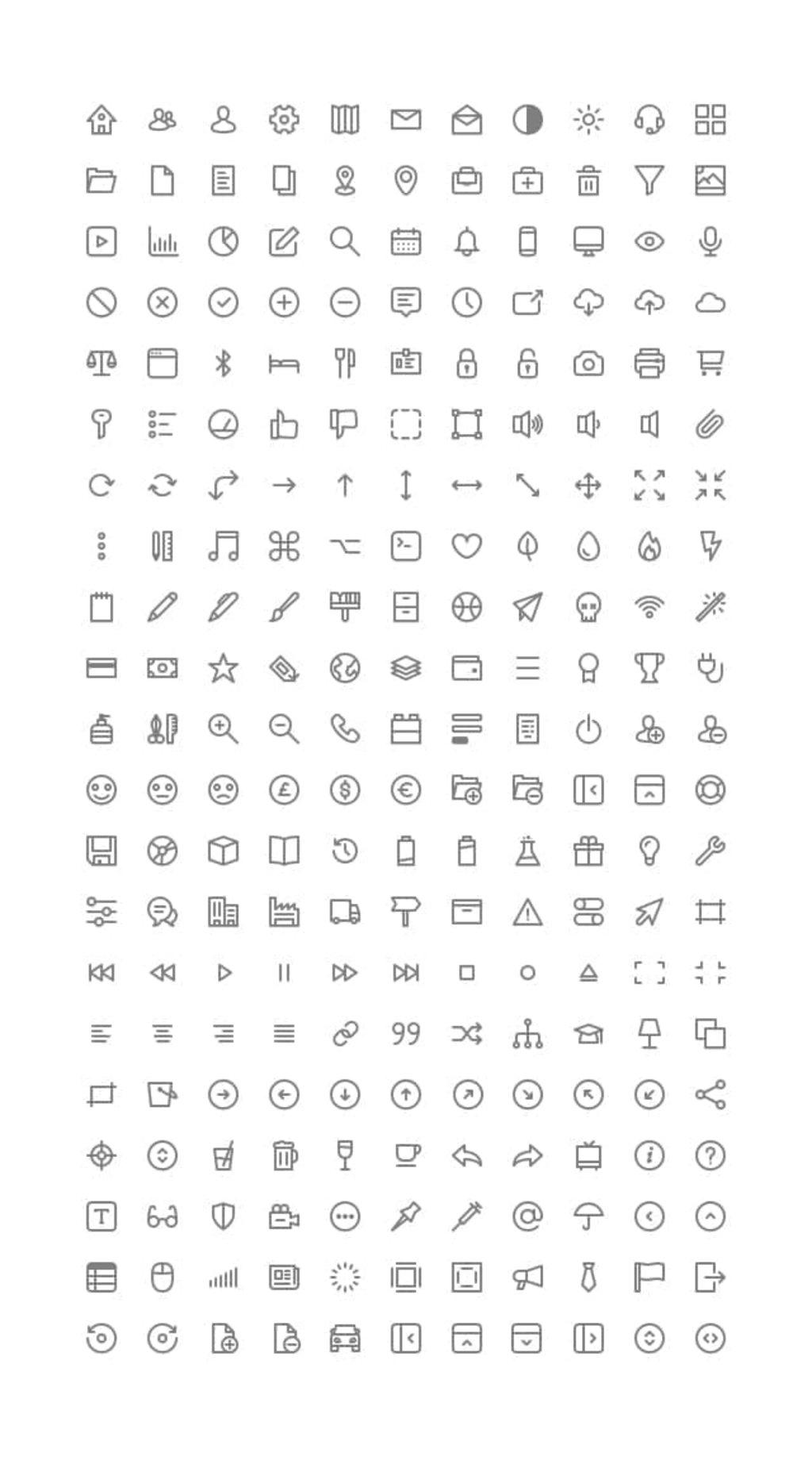 Micons – 231 Icônes gratuites-1