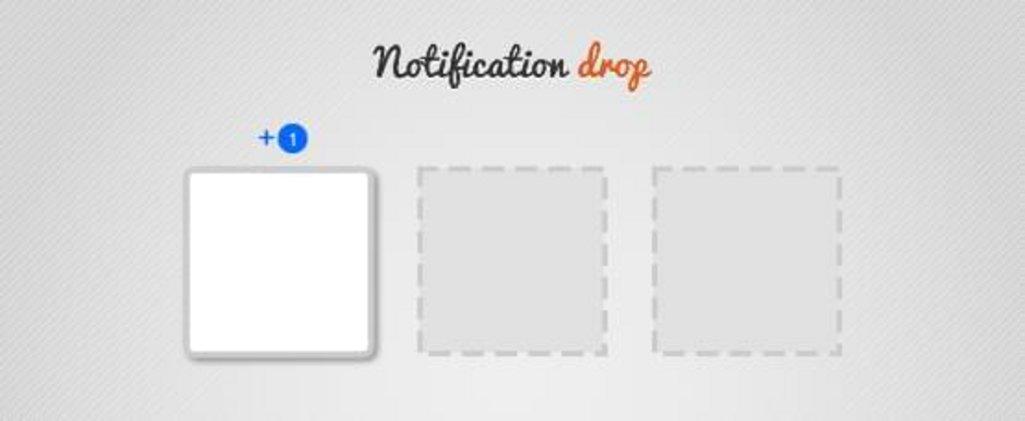 notification drop