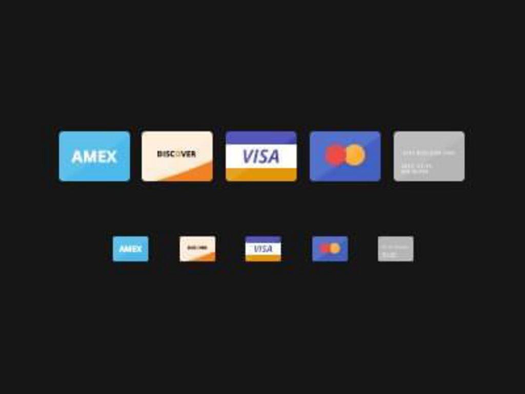pack icônes gratuites carte credit flat design