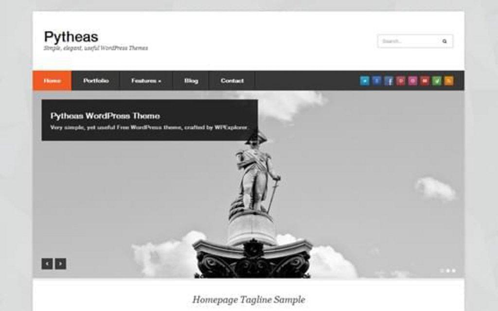Pytheas - template WordPress gratuit responsive