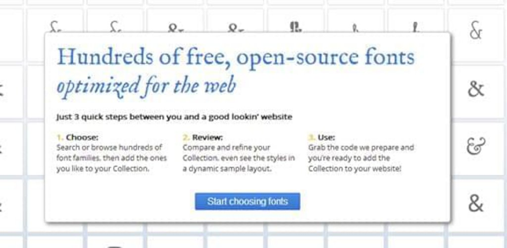 Ressource Web design 7 - Google Web Fonts