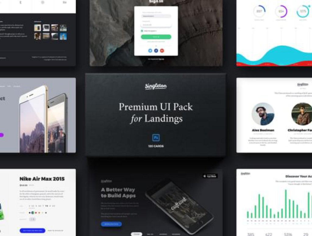 Singleton – Kit UI landing pages-1