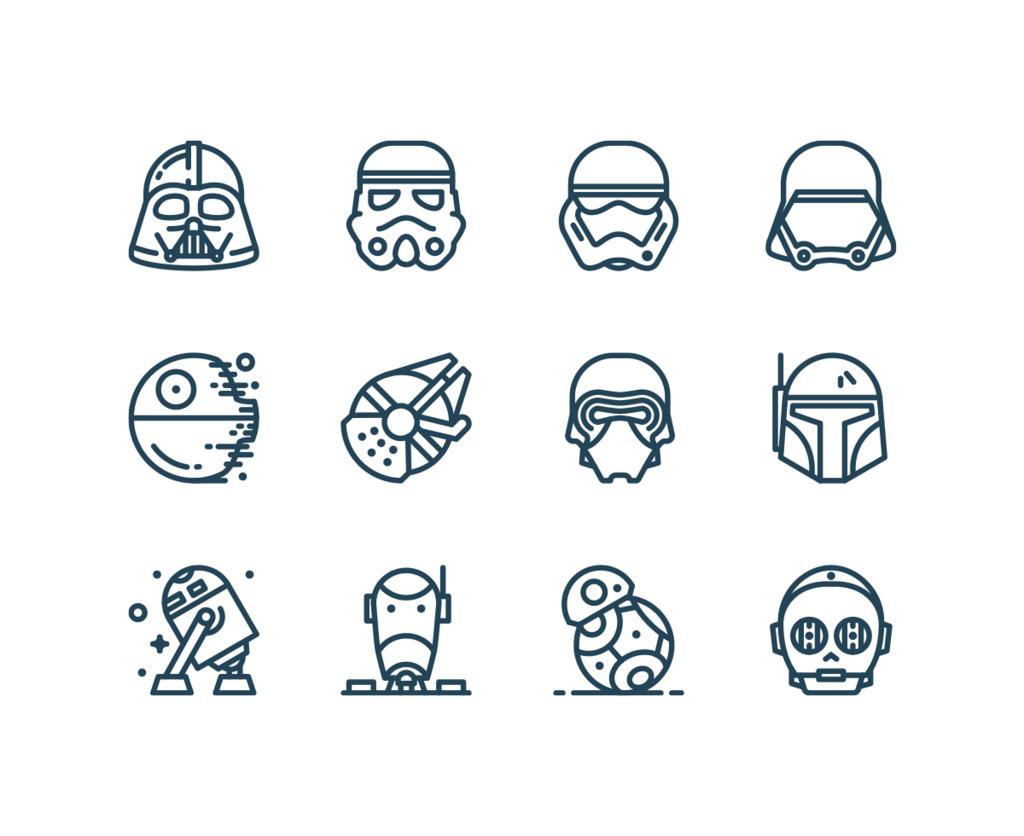 Star Wars – Icônes gratuites-1