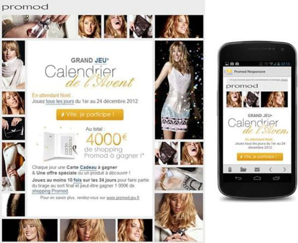 Template email mobile Promod