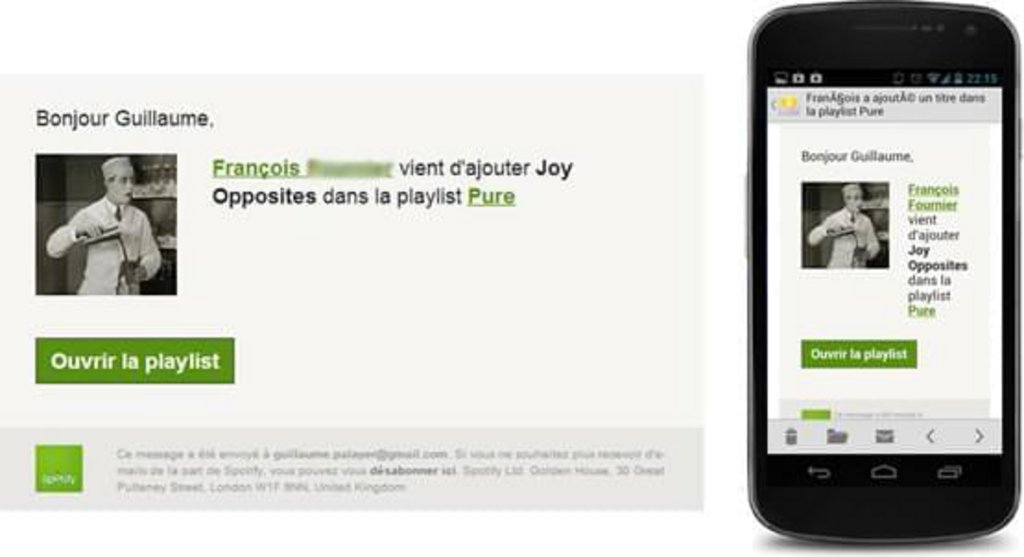 Template mail mobile Spotify