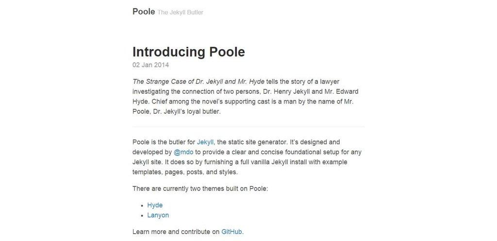 Poole – Thème Jekyll-1