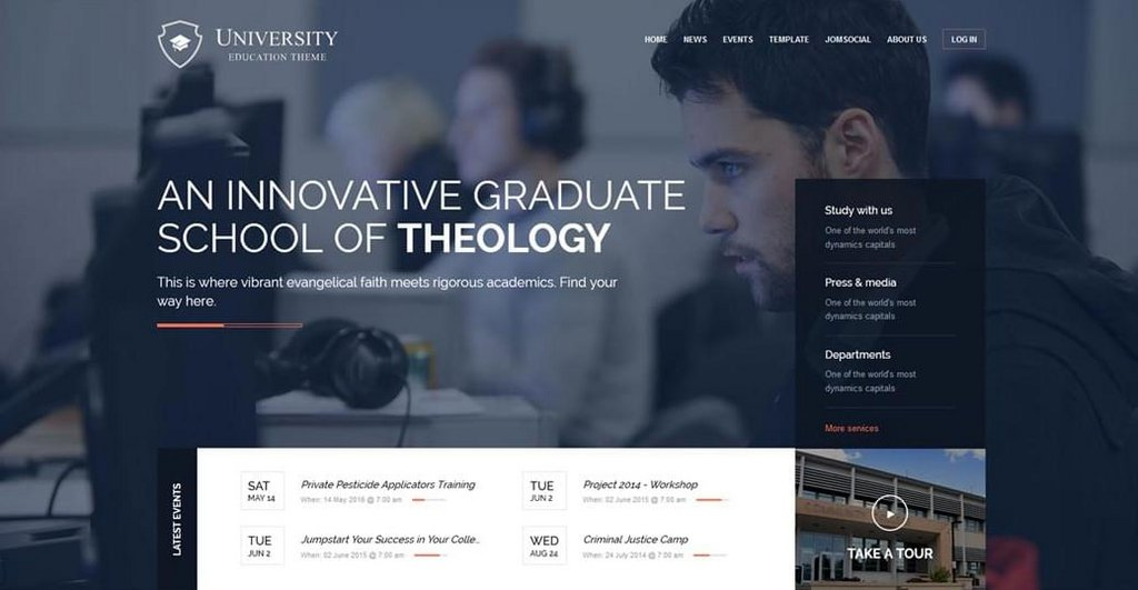 University – Thème Joomla-1
