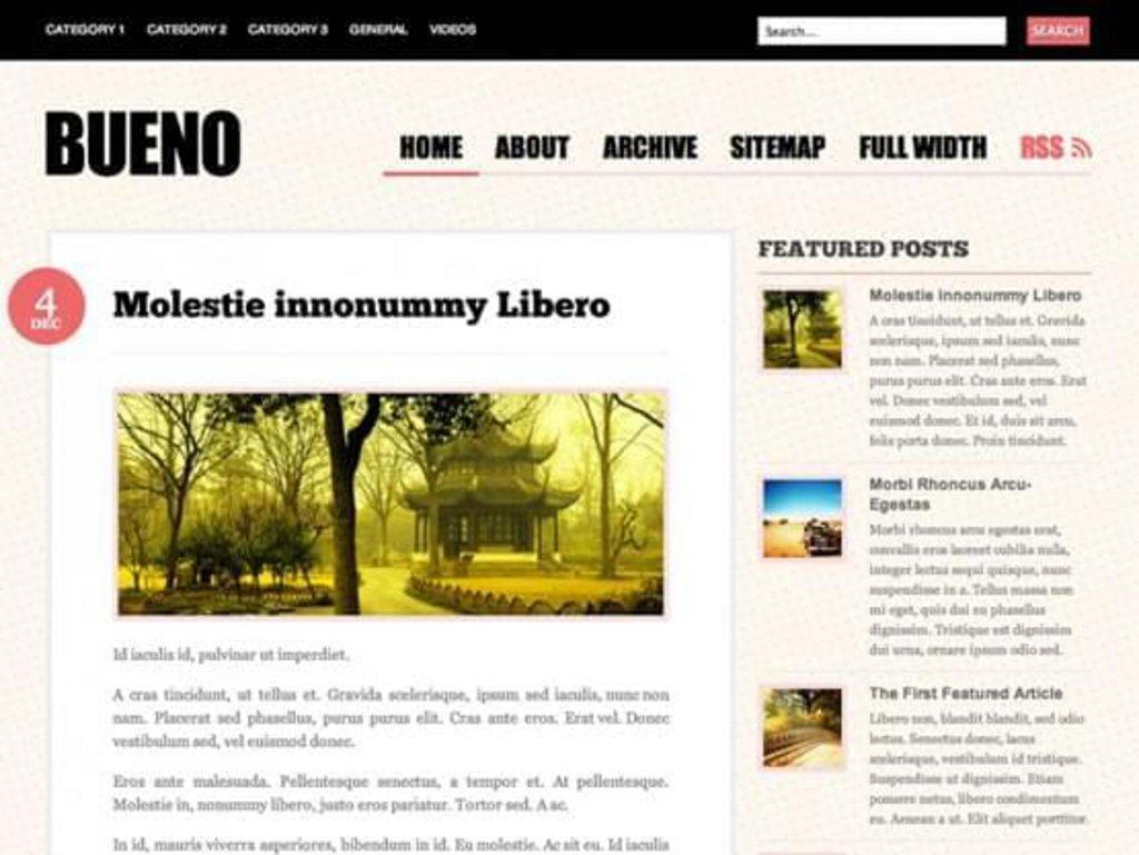 thème wordpress gratuit bueno