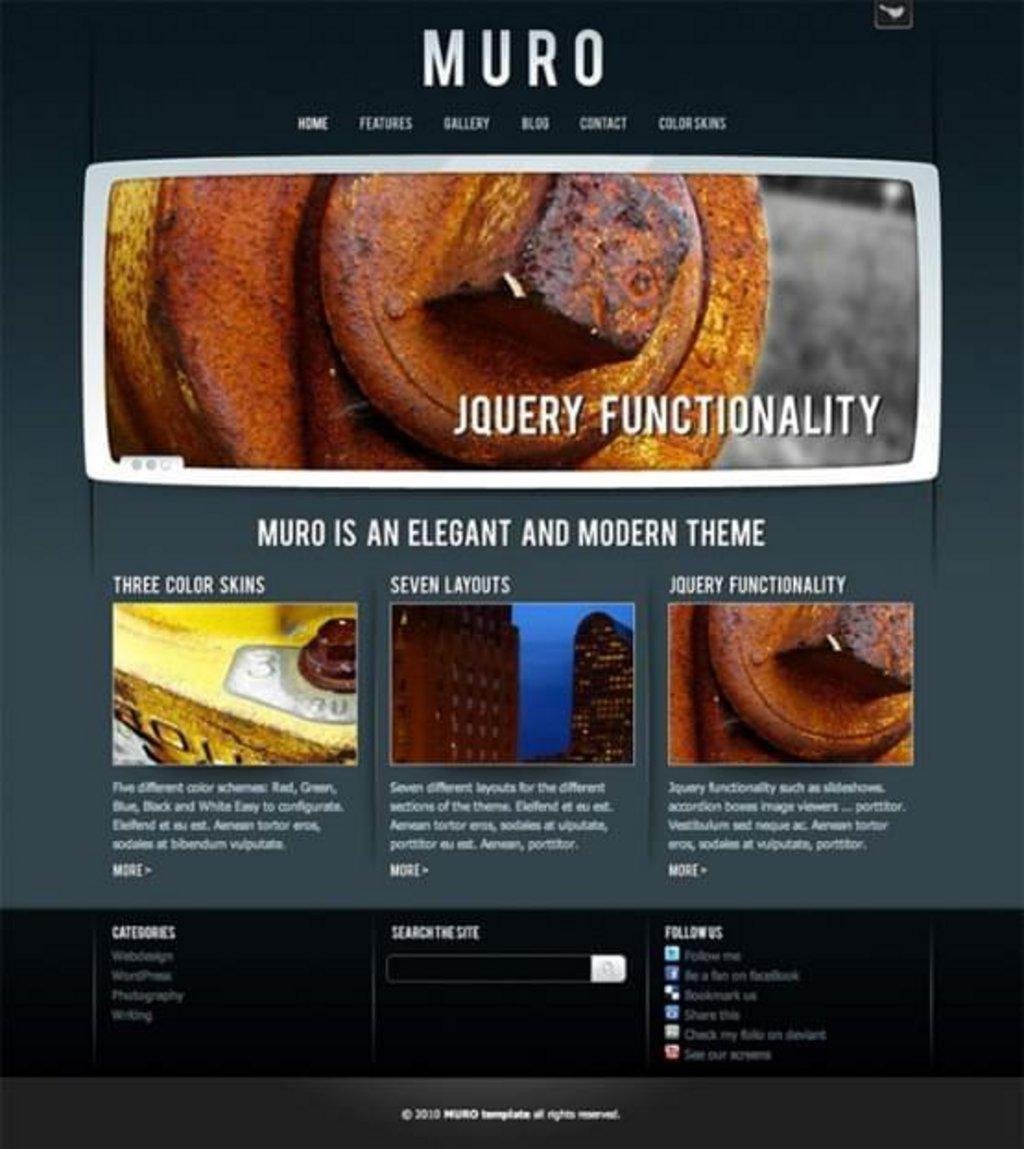 thème wordpress gratuit muro