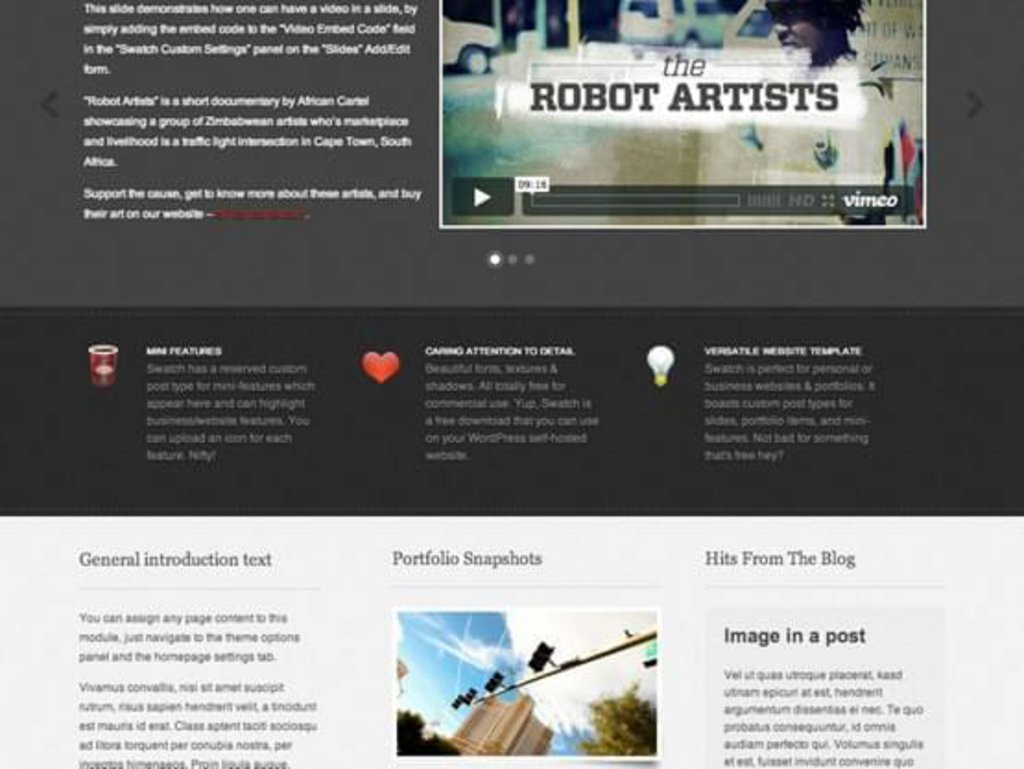 thème wordpress gratuit swatch
