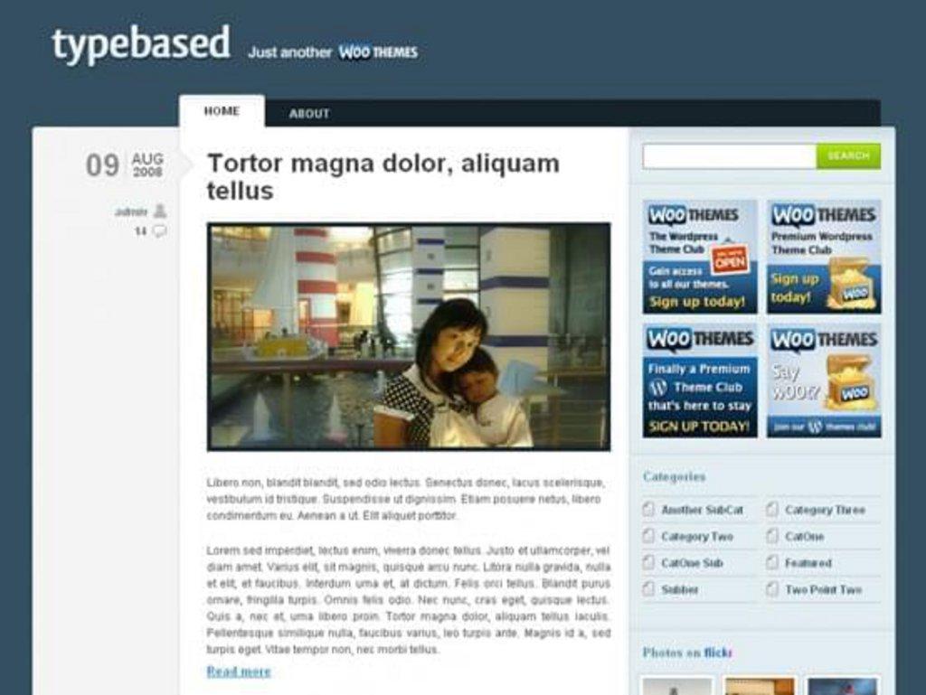 thème wordpress gratuit typebased