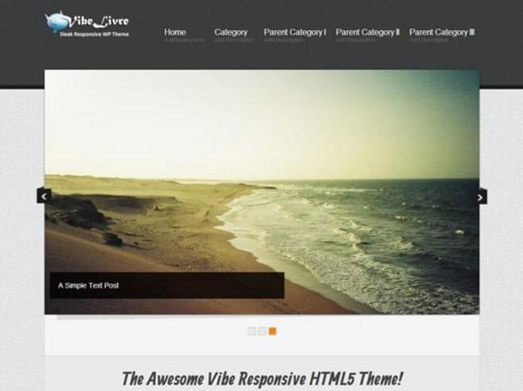 Vibelivre - template WordPress gratuit responsive