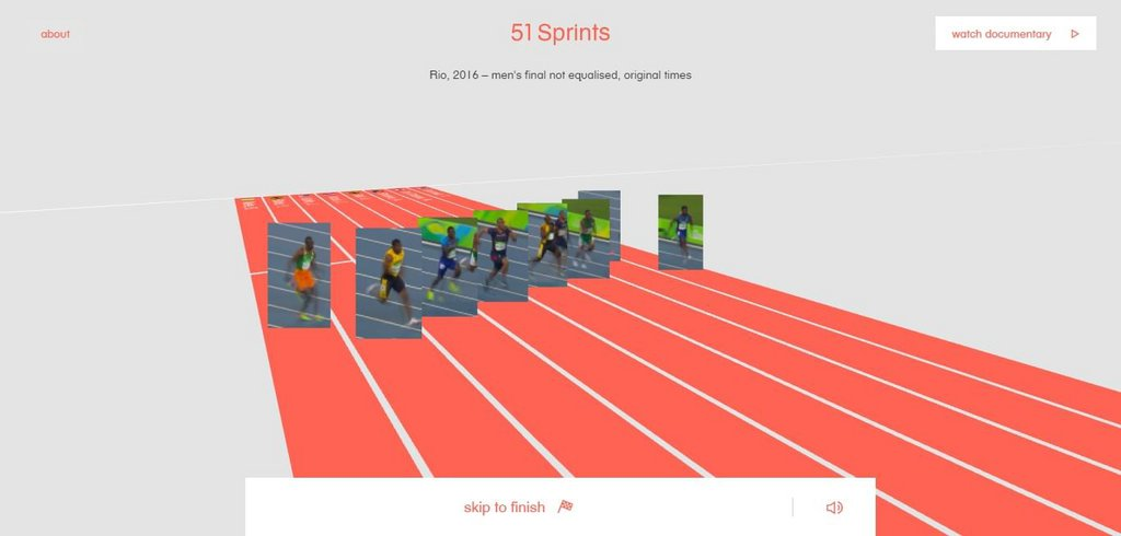 51 Sprints – The Human Race – screenshot 1 – #webdesign #inspiration #design #ux #ui