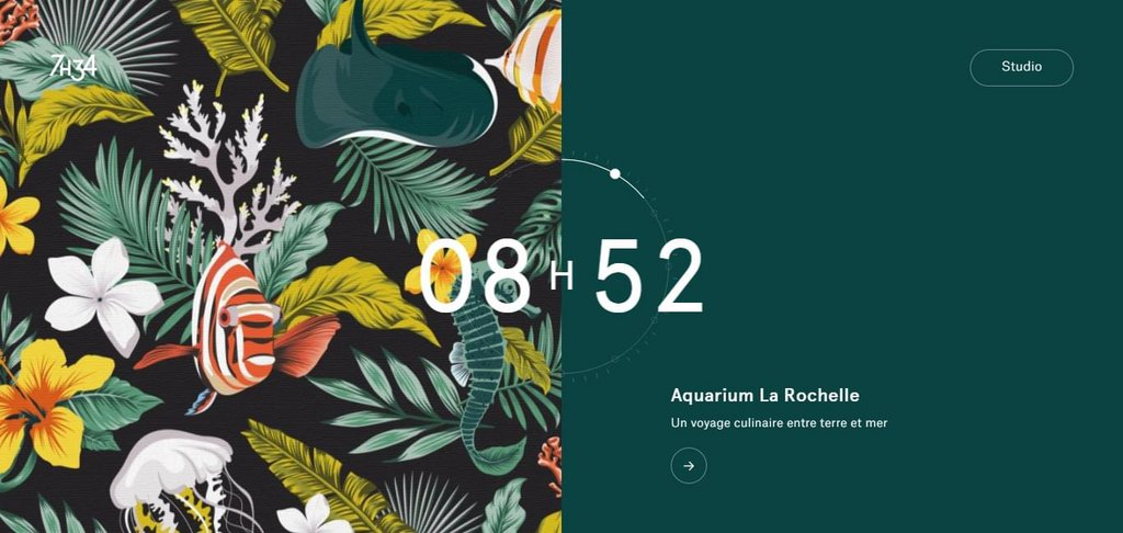 7h34 - Design graphique & digital – screenshot 1 – #webdesign #inspiration #design #ux #ui