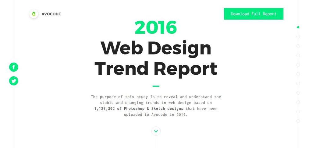 Avocode 2016 Web Design Report