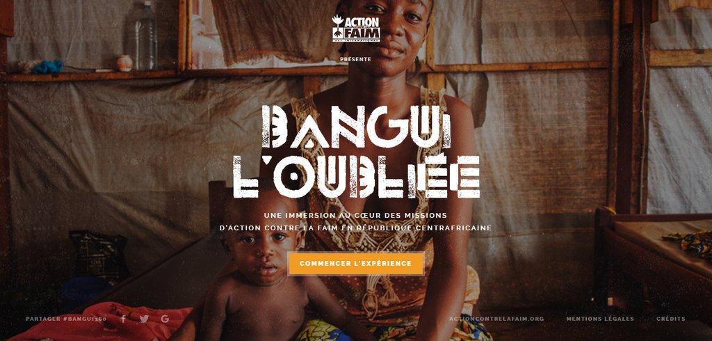 Exemple vidéo site Internet - Bangui l'oubliée
