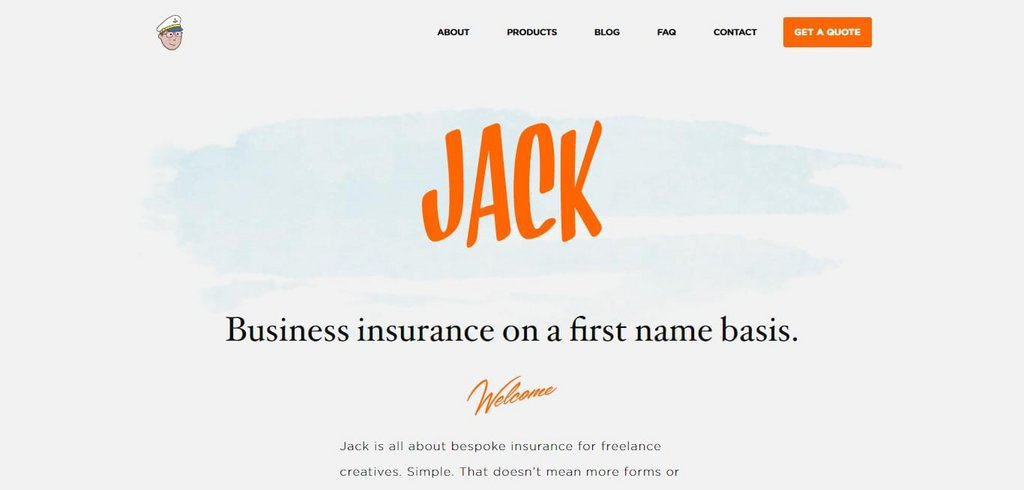 Business insurance on a first name basis   Jack