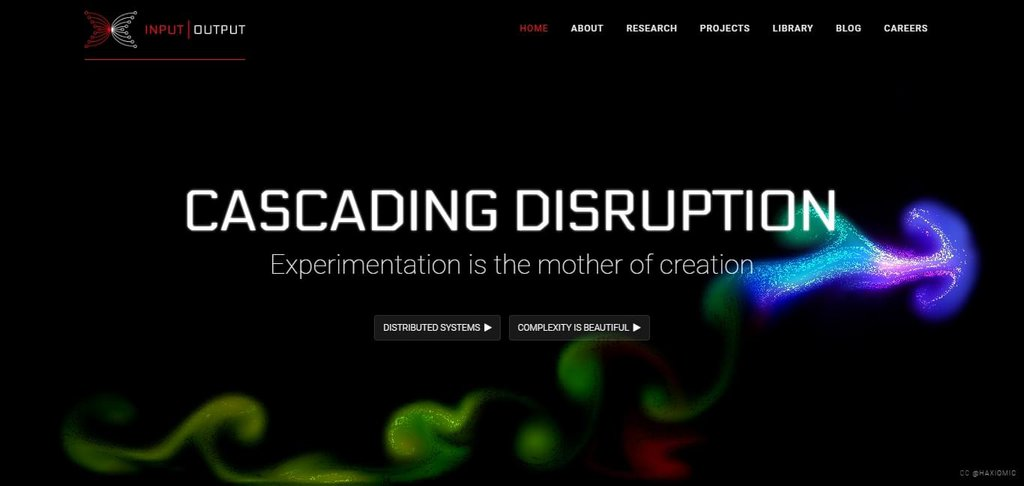 Cascading Disruption – screenshot 1 – #webdesign #inspiration #design #ux #ui