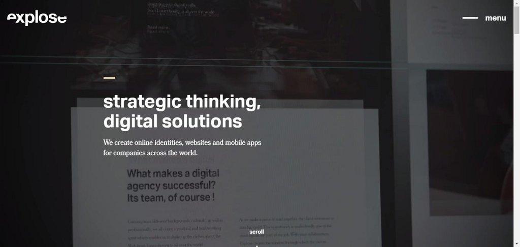 Explose web agency – screenshot 1 – #webdesign #inspiration #design #ux #ui