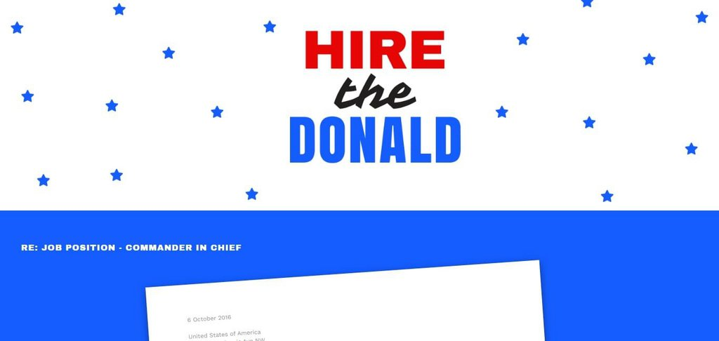 Hire The Donald