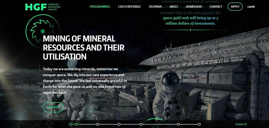 Hornicko-geologická fakulta | The Future is Deep