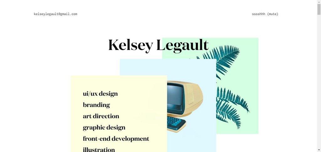 Kelsey Legault – screenshot 1 – #webdesign #inspiration #design #ux #ui