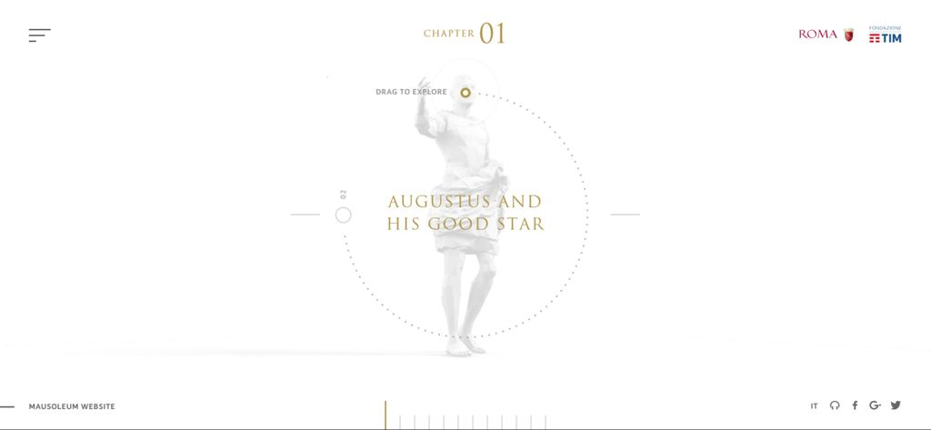 Mausoleum of Augustus – screenshot 1 – #webdesign #inspiration #design #ux #ui