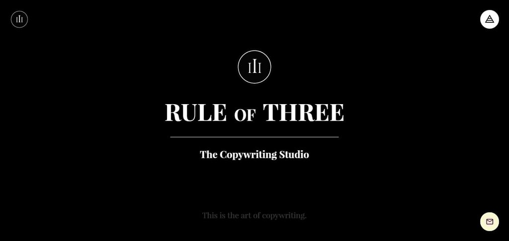 Rule of Three Copywriting Studio – screenshot 1 – #webdesign #inspiration #design #ux #ui