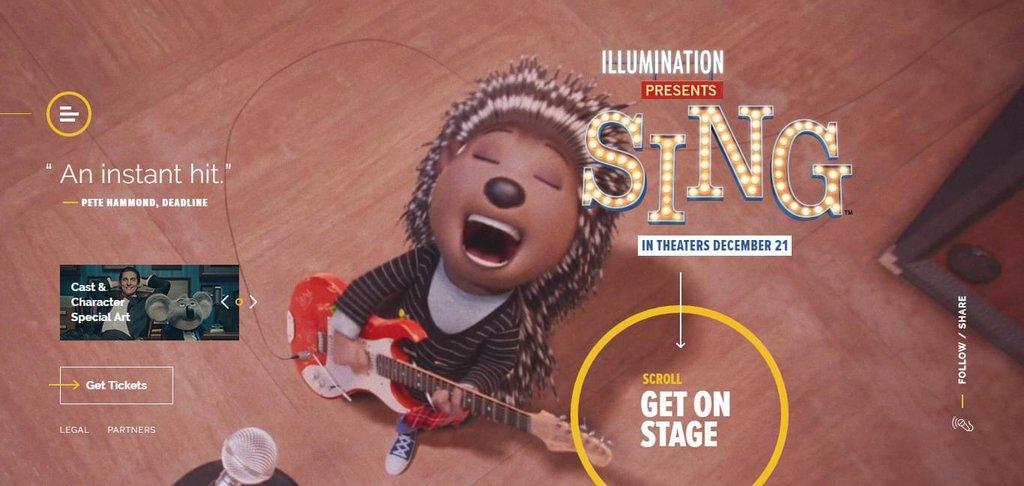 Exemple vidéo site Internet - Sing movie