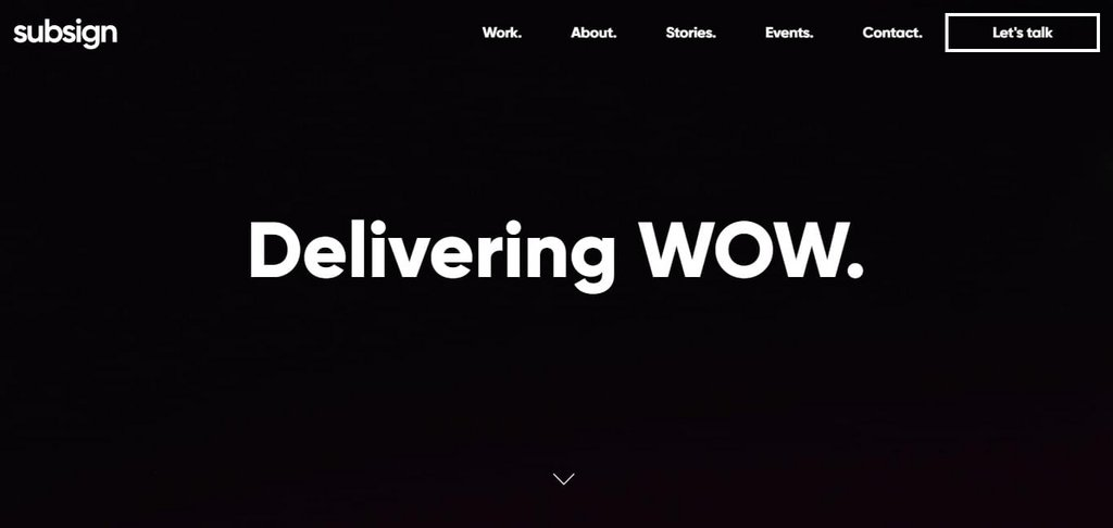 Subsign | Delivering WOW.