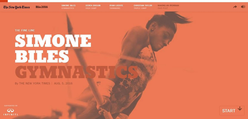 Exemple vidéo site Internet - The Fine Line: What Makes Simone Biles the World's Best Gymnast - The New York Times